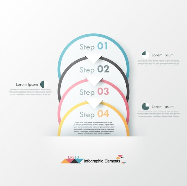 Modern infographics options banner with circles