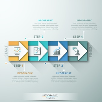 Modern infographics options banner with colorful rectangles
