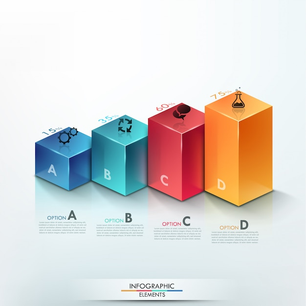 Modern infographics options banner with column chart