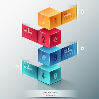 Современная инфографика варианты баннеров с кубиками