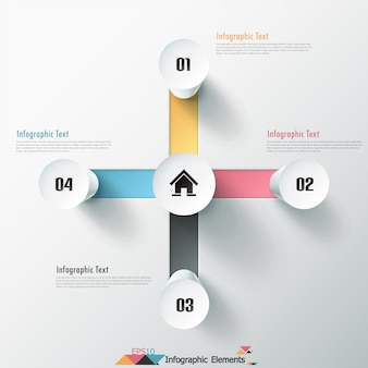 Modern infographics options banner with cylinders