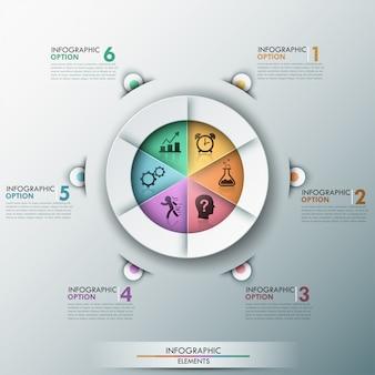 Современная инфографика варианты баннеров с круговой диаграммой
