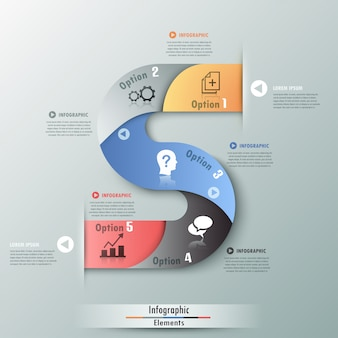 Современная инфографика варианты баннеров с лентами