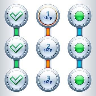 現代のインフォグラフィックオプションバナー