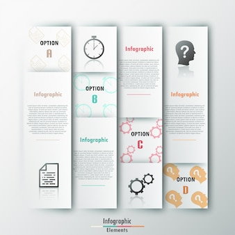 Modern infographics options paper template