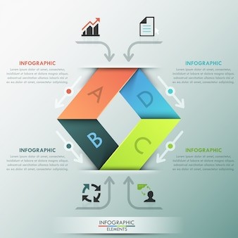 Modern infographics options ribbon template