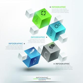 Modern infographics options template