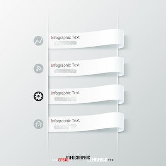 Modern infographics paper ribbons