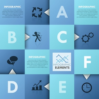 Современная инфографика бумажный шаблон
