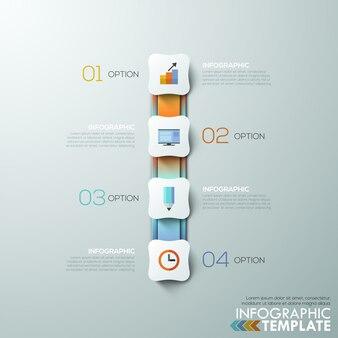 Современный шаблон инфографического процесса