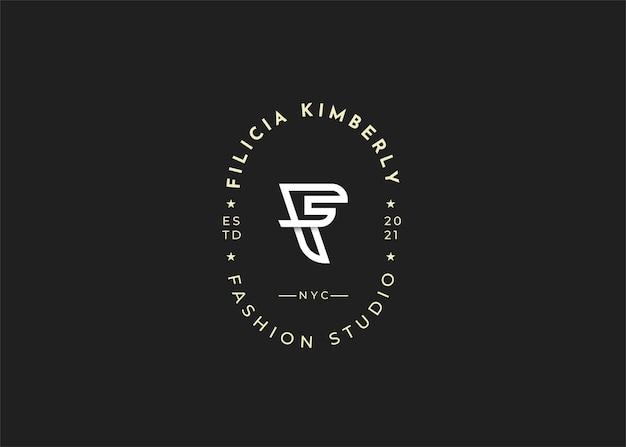 현대 이니셜 f 문자 로고 디자인 템플릿 일러스트