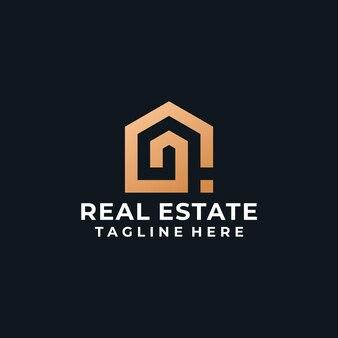 Modern inspirational real estate building logo