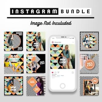 Современный instagram fashion post шаблон