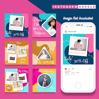 Modern instagram fashion story template