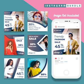 Modern instagram post fashion template