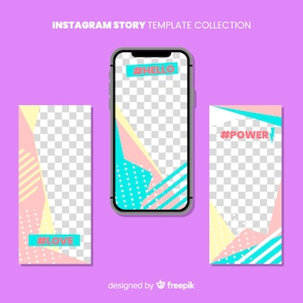 Modern instagram stories template collection