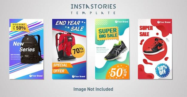 Modern instagram stories, спортивный рекламный пост