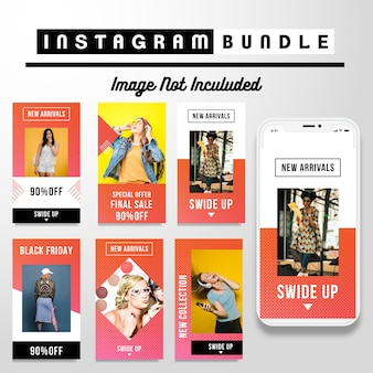 Modern instagram story fashion template,