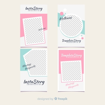 Modern instagram story template collection