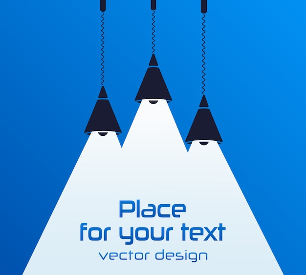 Modern interior. lamp bulb. place for your text