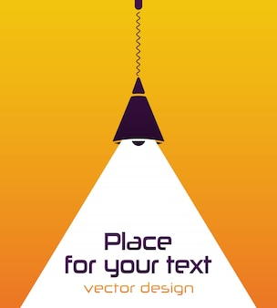 Modern interior. lamp bulb. place for your text.