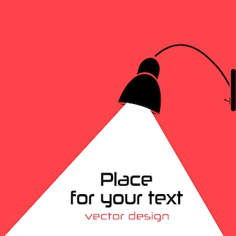 Modern interior. lamp bulb . place for your text