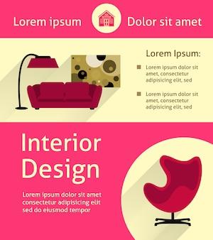 Modern interior poster
