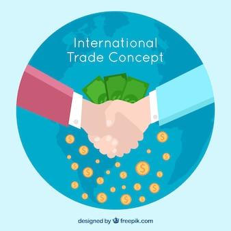 평면 디자인으로 현대 국제 무역 개념