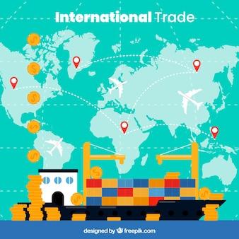 Modern international trade concept