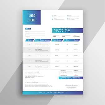 Современный шаблон счета-фактуры