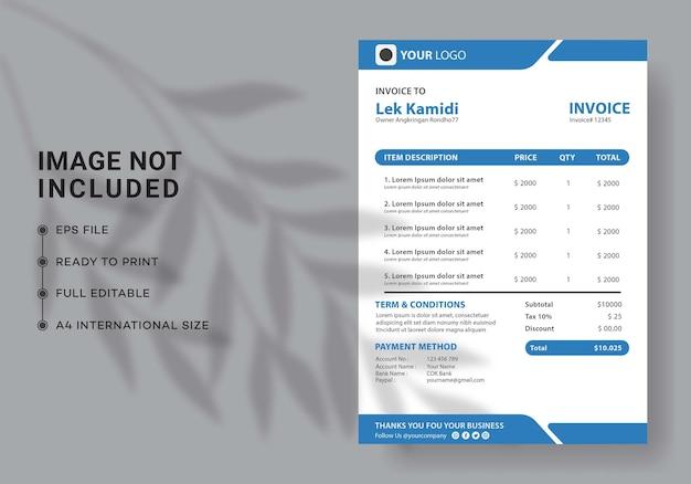 Modern invoice design template
