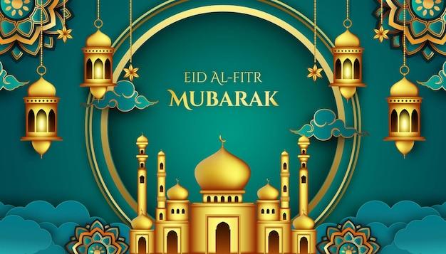 Modern islamic background for ramadan and eid mubarak