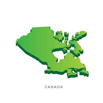 Modern isometric 3d canada map