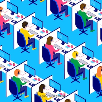 Modern isometric call center