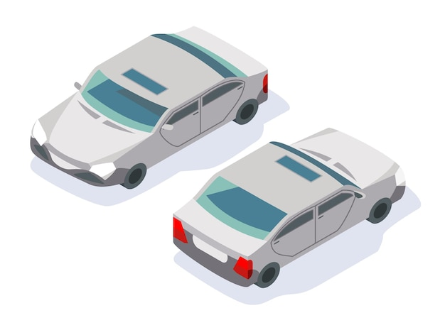 현대 아이소 메트릭 자동차 아이콘 디자인