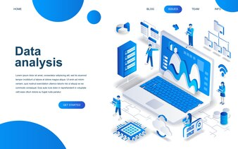 Modern isometric design concept of Big Data Analysis
