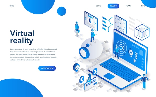 Modern isometric design concept of virtual reality