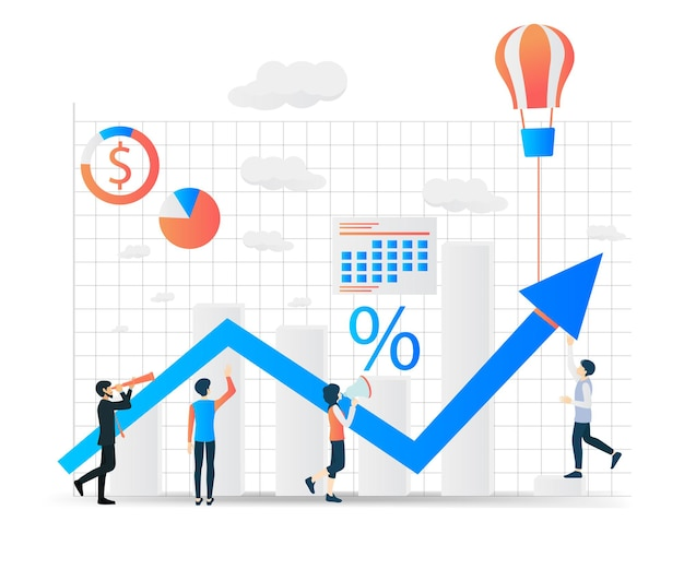 Modern isometric vector illustration about startup a business with characters