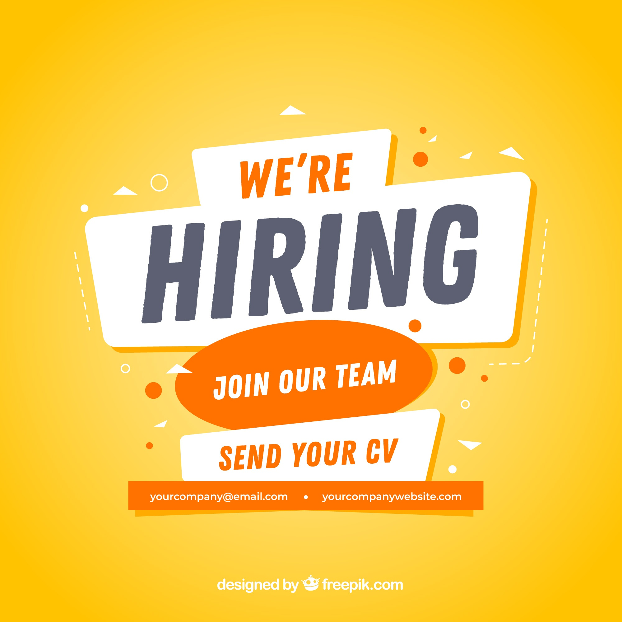 Modern job vacancy composition with flat design