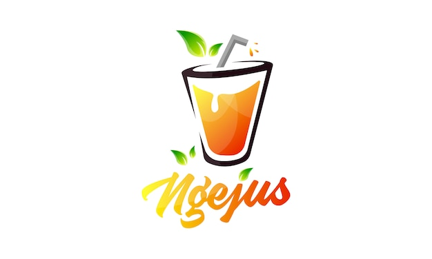 Modern juice colourfull logo