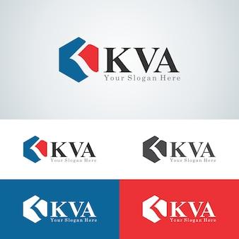 Современный шаблон логотипа kva