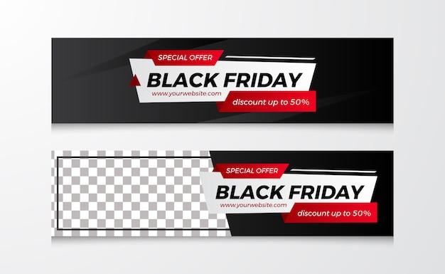 Modern label banner for black friday sale offer discount template