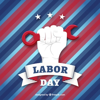 Modern labor day composition with flat design