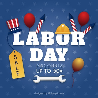 Modern labor day sales composition
