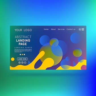Modern landing page abstract corporative design