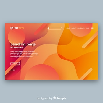 Modern landing page with abstract design