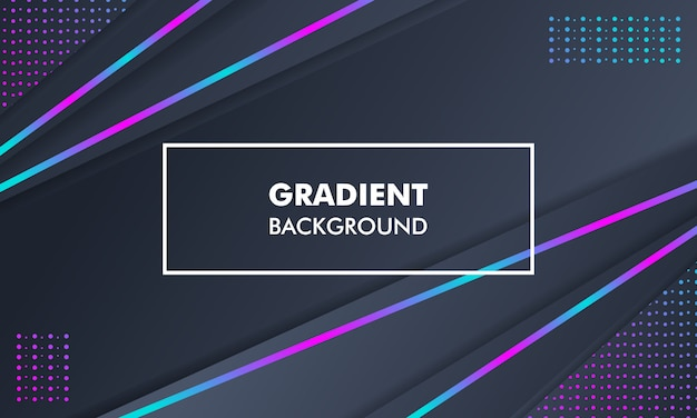 Modern landscape gradient background neon light