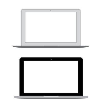 Modern laptop Notebook Vector