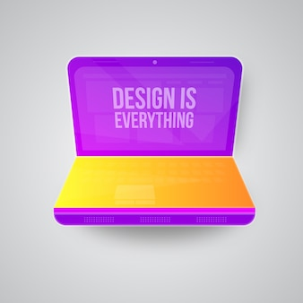Modern laptop vector design