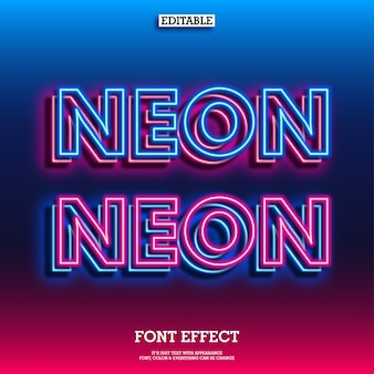 Modern layered neon text effect with cool glow effect